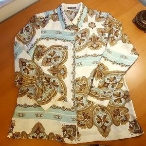 Tommy Bahama Tops - Print Silk Blouse